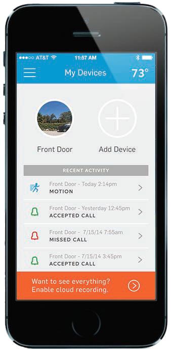Ring Video Door Bell Smartphone App