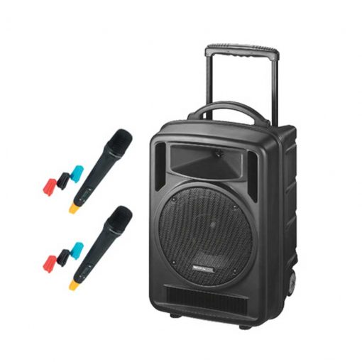 120w RMS Portable PA Amplifier with CD Player & 2 x Wireless Microphones