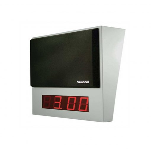 Valcom Wall Mount One-Way InformaCast IP Speaker Digital Clock (VIP-411A-DS-IC)
