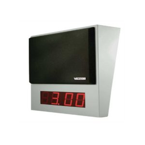 Valcom One-Way Wall Mount IP Speaker Digital Clock Grey w/ Black Grille (VIP-411A-DS)