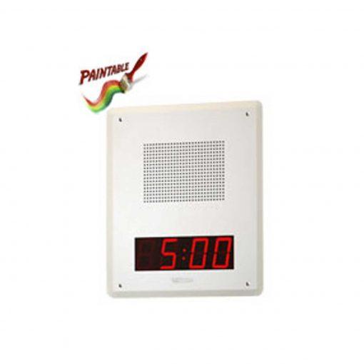 Valcom Talkback IP Speaker Faceplate Unit with digital clock white (VIP-429A-IC)