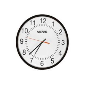 "Valcom - 16"" Analogue Wired Clock (V-A2416)"