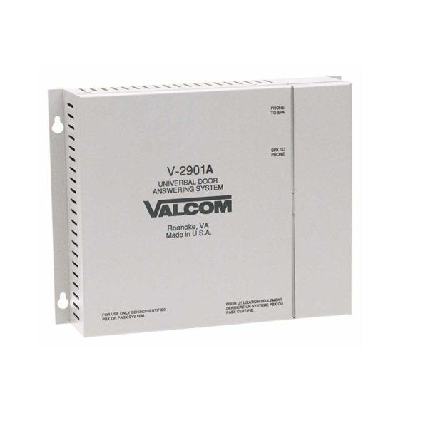 Valcom Single Door Answering Device - Enhanced - Activates Door Locks (V-2901A)
