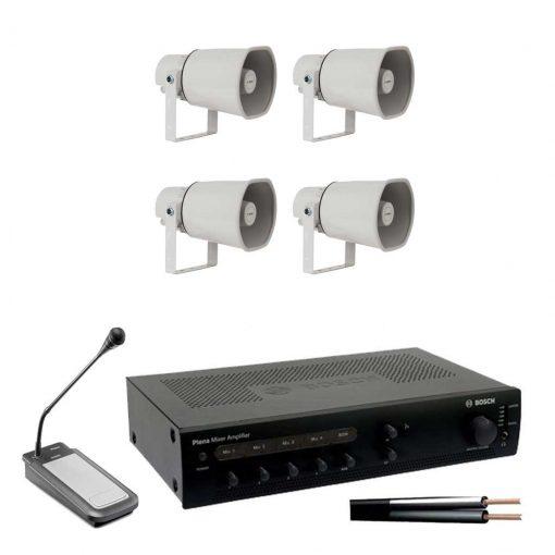 Horn 4 Speaker Kit with 120w Amplifier