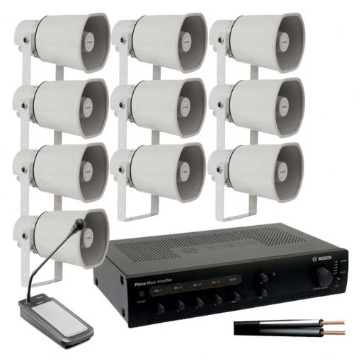 10 Horn Speaker Kit with 120w Amplifier