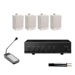 Slimline 4 Speaker Kit with 30w Amplifier