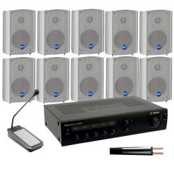 Horn 10 Speaker Kit with 120w Amplifier