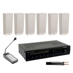 Slimline Speaker Kit with 120w Amplifier