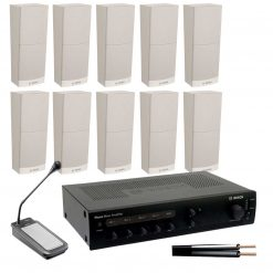 Slimline 10 Speaker Kit with 120w Amplifier