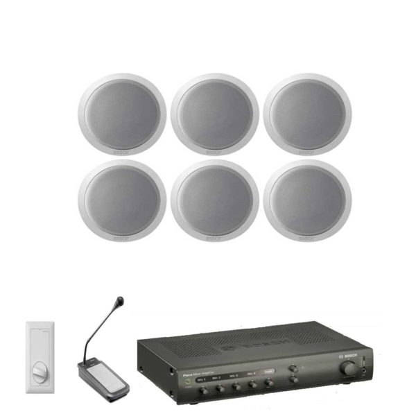 Bosch 6 Speaker Kit with Amplifier & Microphone - (VAL-SPK-KIT-7)