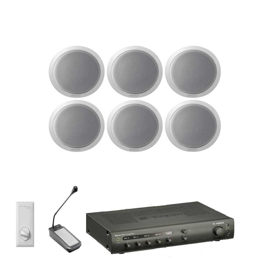 bosch 6 speaker kit with amplifier microphone val spk kit 7 valcom uk. Black Bedroom Furniture Sets. Home Design Ideas